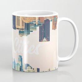 Skylines of Twin Cities | Minneapolis and Saint Paul Minnesota Coffee Mug