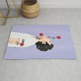 Man With Roses Rug