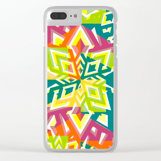 Floral pieces Clear iPhone Case