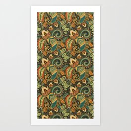 Paisley & Love Art Print