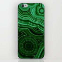 GREEN MALACHITE STONE PATTERN iPhone Skin