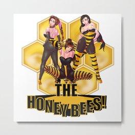 The Honey Bees Metal Print