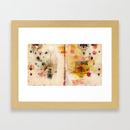 Mapping Distances Framed Art Print