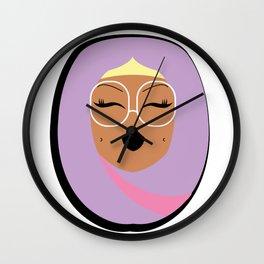 Lilac Muslimah Wall Clock