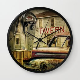 Expired Parking Meters by Tavern Wall Clock