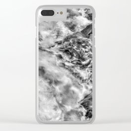 Drama On The Rocks (B&W) Clear iPhone Case