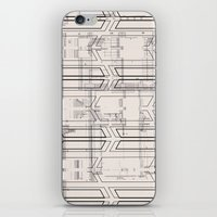 blueprint iPhone & iPod Skins featuring Blueprint by hoopderscotch