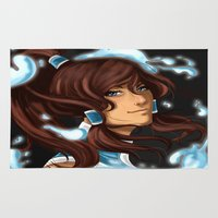 korra Area & Throw Rugs featuring Korra by BubbleJuiceBox