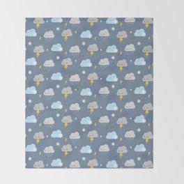 Kawaii Stormy Weather Throw Blanket
