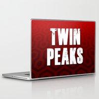 twin peaks Laptop & iPad Skins featuring Twin Peaks by InvaderDig