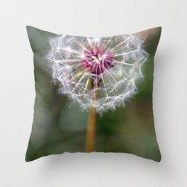 Dandelion Seed Head Throw Pillow