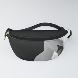 Swan On Black Fanny Pack