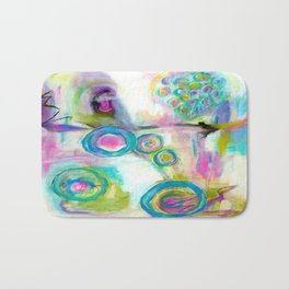 Driven To Distraction, Abstract Landscape Art Bath Mat