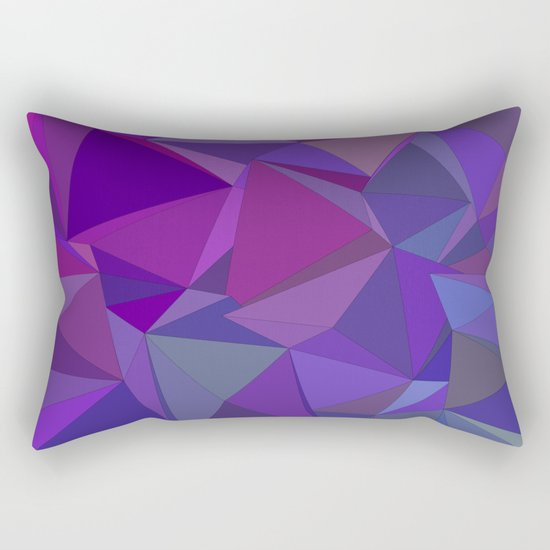 Chaotic purple tiles Rectangular Pillow