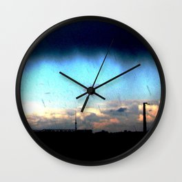 Cave from clouds.  Wall Clock