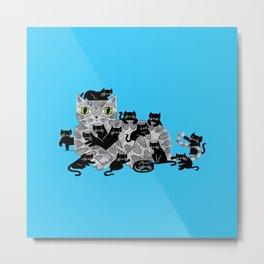 Kitten Litter Metal Print