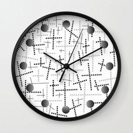 Croisement gris Wall Clock