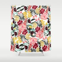 garden Shower Curtains featuring Wild Garden II by Bouffants and Broken Hearts