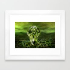 The old bulb culture Framed Art Print