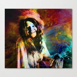 1970 Woman Of Rock And Roll By Annie Zeno Canvas Print