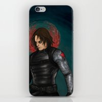 the winter soldier iPhone & iPod Skins featuring Winter Soldier by toibi