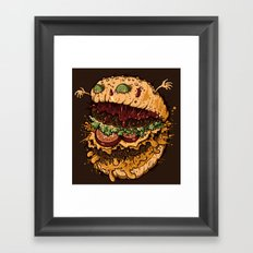 Monster Burger Framed Art Print
