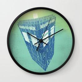 Type40 Doctor Who Calligram Wall Clock