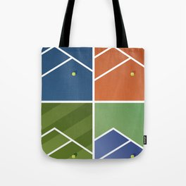 Tennis Courts Tote Bag