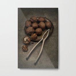 Still life with walnuts Metal Print