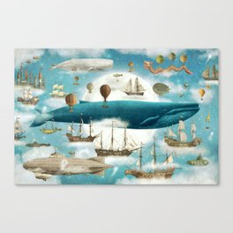 Ocean Meets Sky - book cover Canvas Print