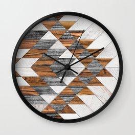 Urban Tribal Pattern 12 - Aztec - Wood Wall Clock