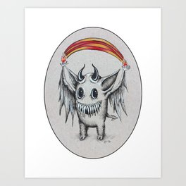 Happy Rainbow of Hellfire Art Print