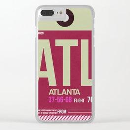ATL Atlanta Luggage Tag 2 Clear iPhone Case