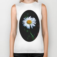 jewish Biker Tanks featuring A daisy a day keeps the blues away by Brown Eyed Lady