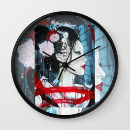 Geisha // Artist of the Floating World // Asian Art // Geisha Girl Wall Clock