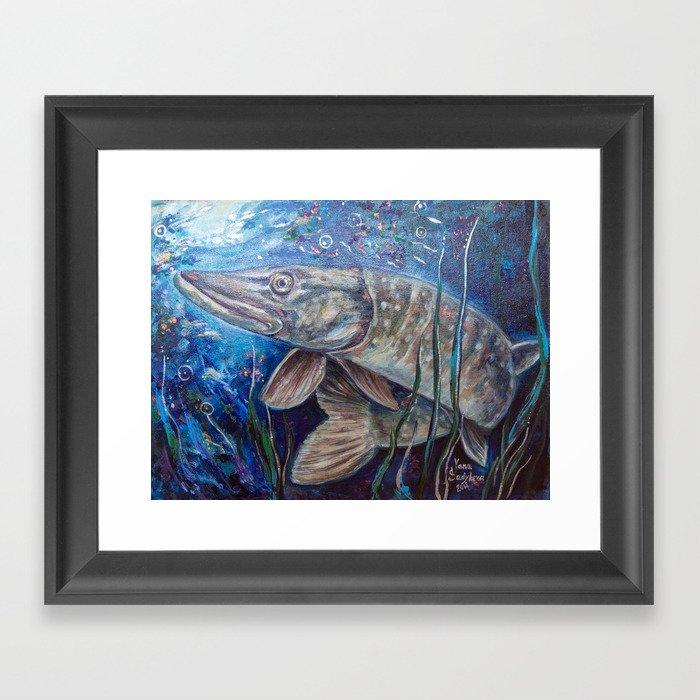 Pike Framed Art Print
