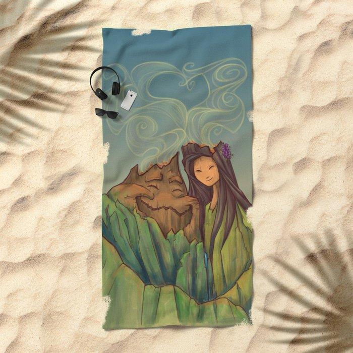 Volcano Love Beach Towel