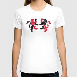 English Lions Red and Black T-shirt