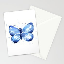 Butterfly Watercolor Blue Butterflies Stationery Cards