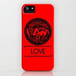 I Am Love (Black Text) iPhone Case