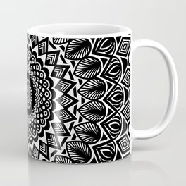 Detailed Black and White Mandala Coffee Mug