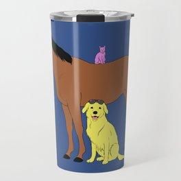Animals from Hollywoo Travel Mug