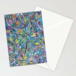 Traffic Jam #OilPainting #Abstract Stationery Cards