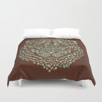 royal Duvet Covers featuring Lion (Royal) by Norman Duenas