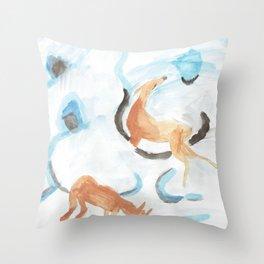 Flurry oranges in the snow. Throw Pillow