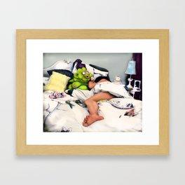 Meet Chester: In the Bedroom Framed Art Print