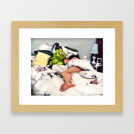 Meet Chester: In the Bedroom Framed Art Print