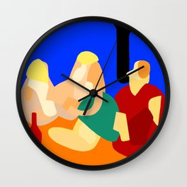 Picnic in the park: abstract Wall Clock