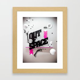 Out of space 01 Framed Art Print