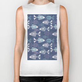 Here, Fishy Fishy Biker Tank